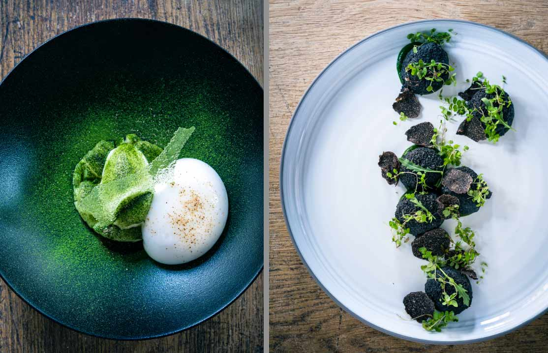 Restaurant Pirouette : Œuf parfait et gnocchis