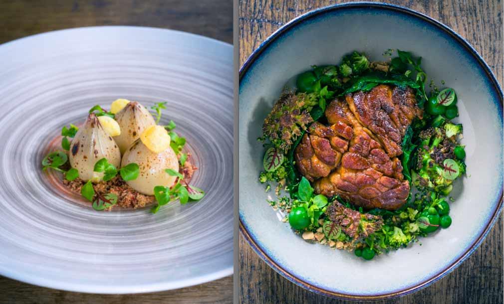 Restaurant Pirouette : Oignons et ris de veau