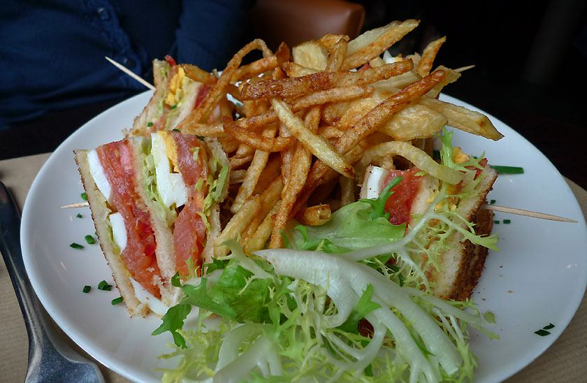 Restaurant PlayOff Wagram, Club Sandwich au saumon fumé