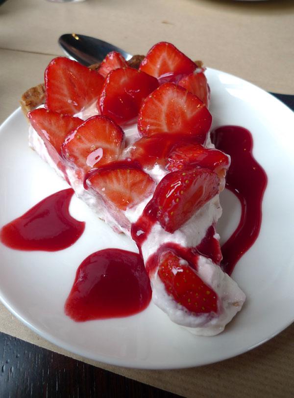 Restaurant PlayOff Wagram, Tarte aux fraises