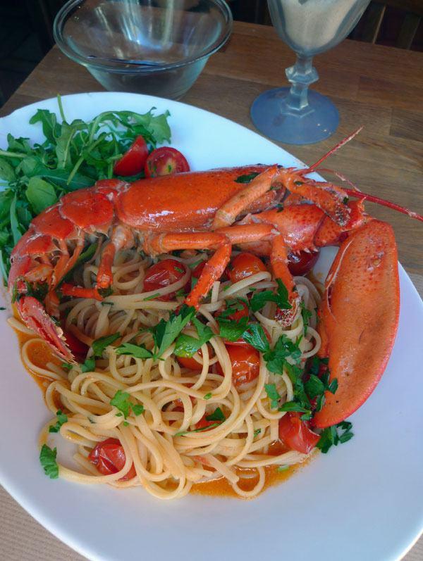 Restaurant Pulcinella, Les spaghetti au homard