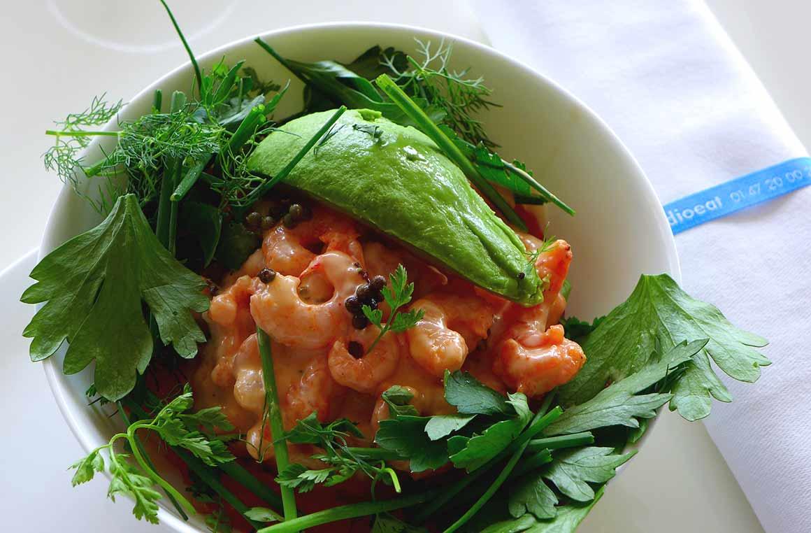 Restaurant RADIOEAT, Salade créole de crevettes