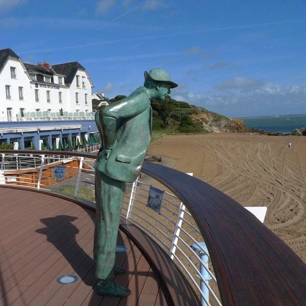 Monsieur Hulot face à la plage