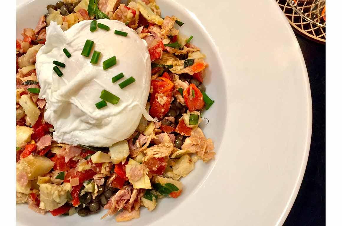 Restaurant Elémentaire : Salade lentilles