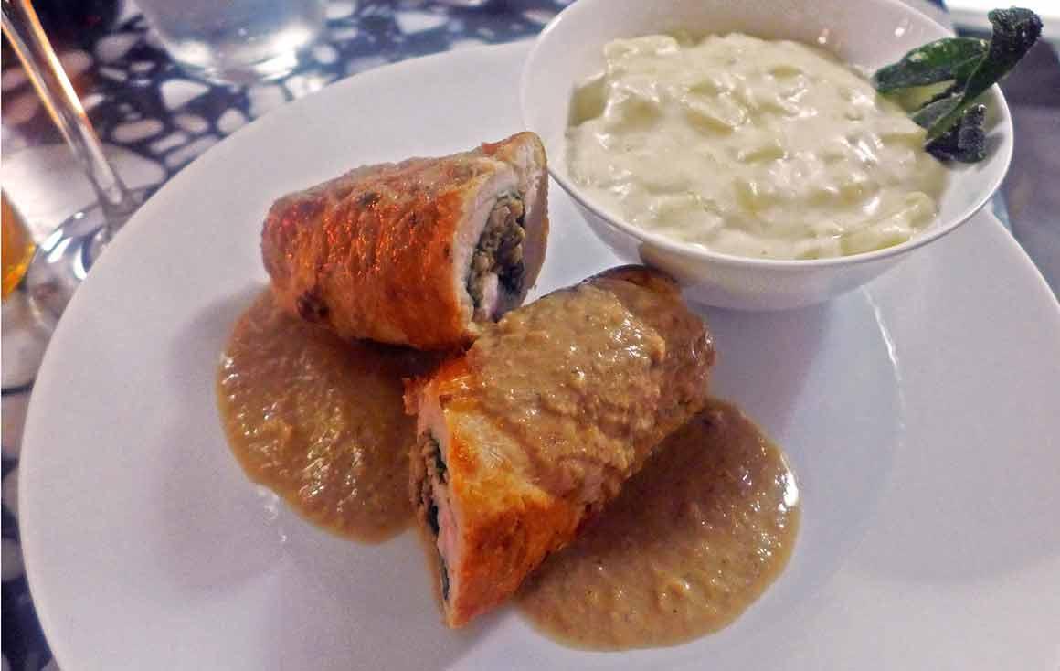 Restaurant Elémentaire : Ballotine de poulet duxelle
