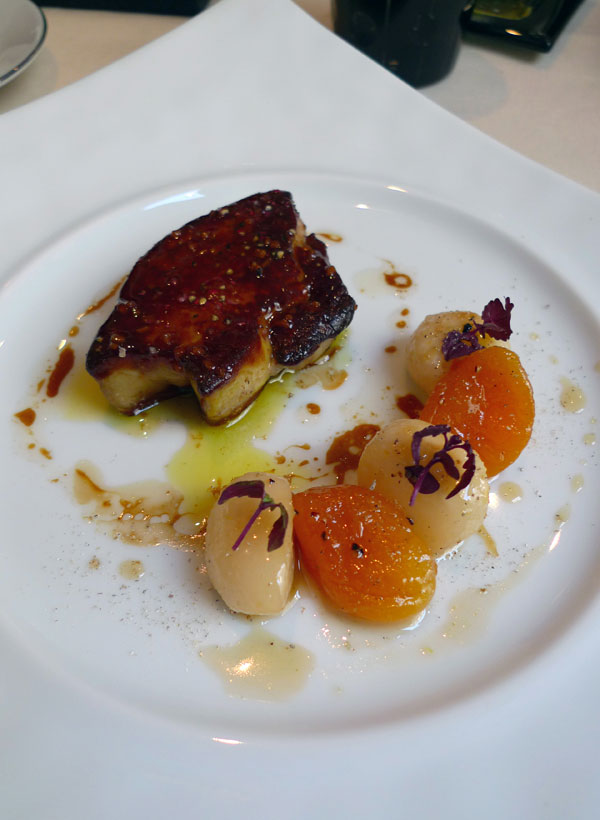 Restaurant Frédéric Simonin, Foie gras chaud de canard navets confits