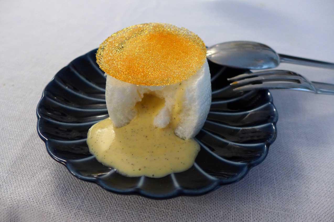 Restaurant Jean François Piège : blanc à manger d'oeuf