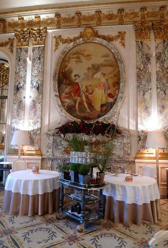 Restaurant Le Meurice, la salle
