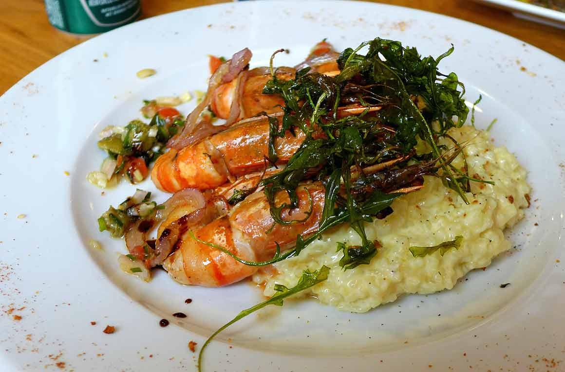 Restaurant Mim : Risotto et gambas