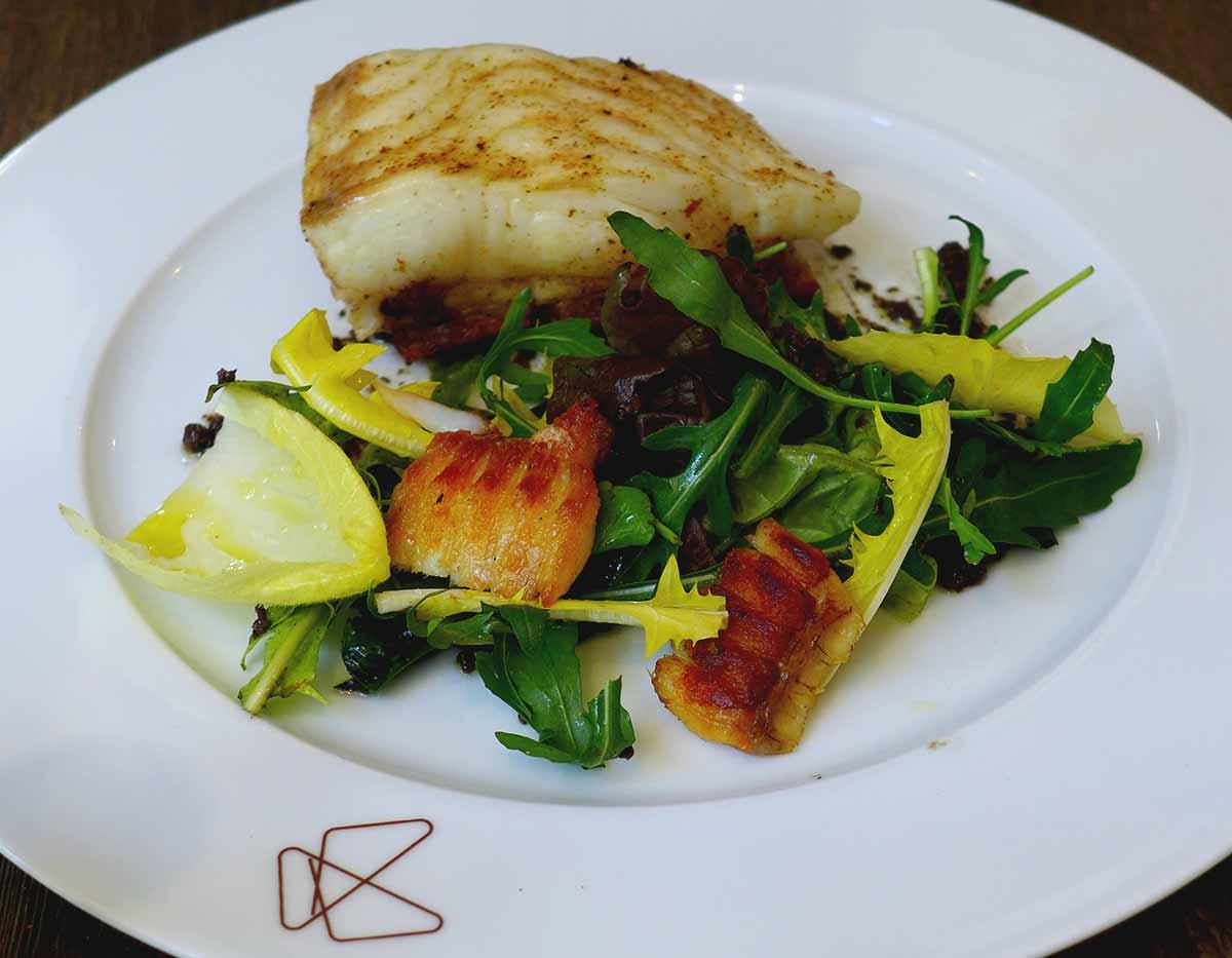 Restaurant Papillon, Barbue rôtie