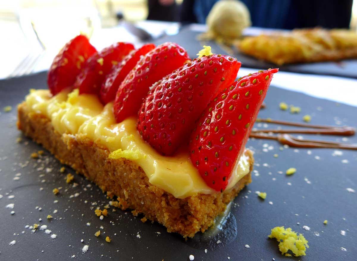 Restaurant Paul, sablé maison aux fraises