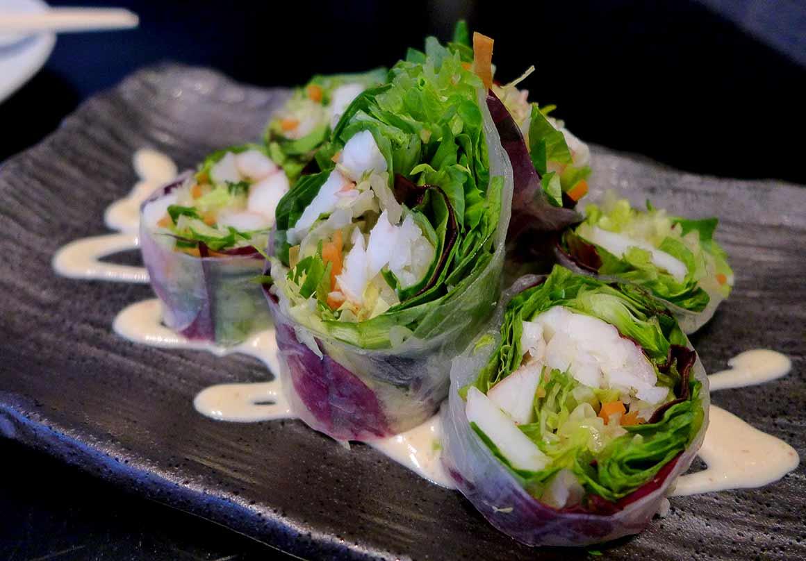 Restaurant Taokan, rouleau de printemps langouste