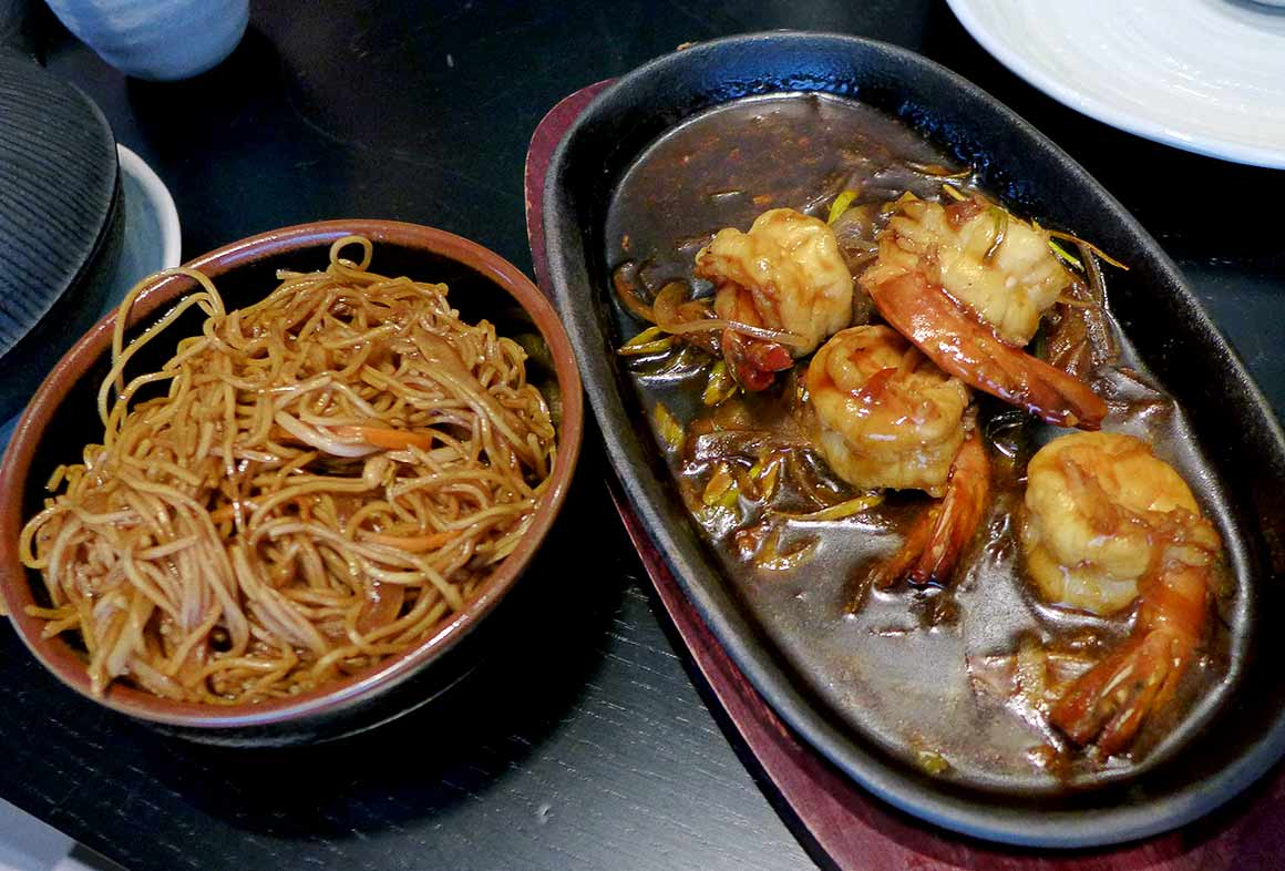 Restaurant Taokan, crevettes spicy