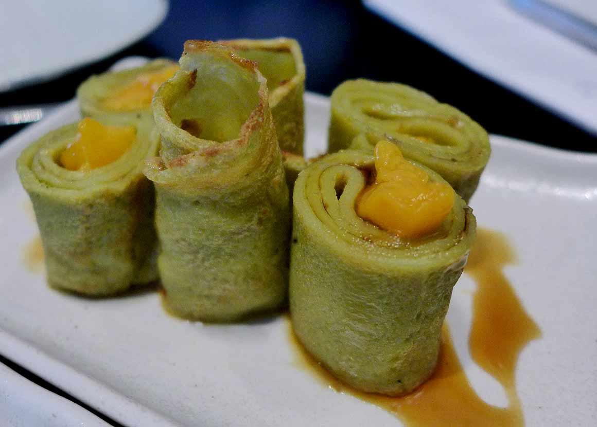 Restaurant Taokan, crêpes au thé vert fruits frais