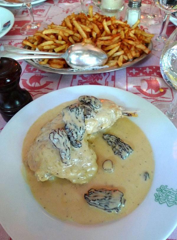 L'Auberge Bressanne, poulet à la crème au vin jaune