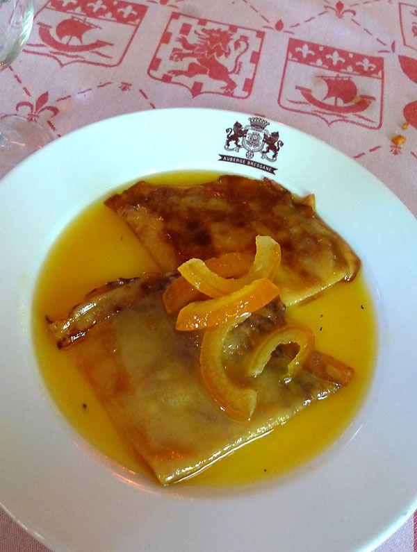 L'Auberge Bressanne, crêpes Suzette flambées