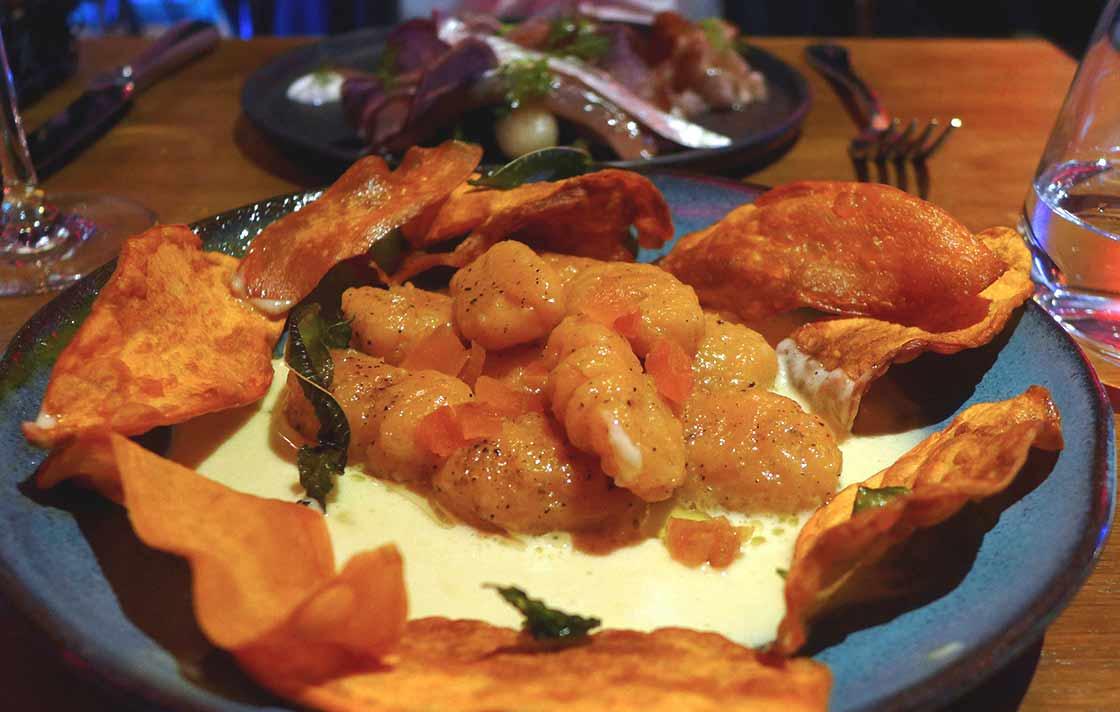 Restaurant FAUST, gnocchis de patate douce et abricots secs