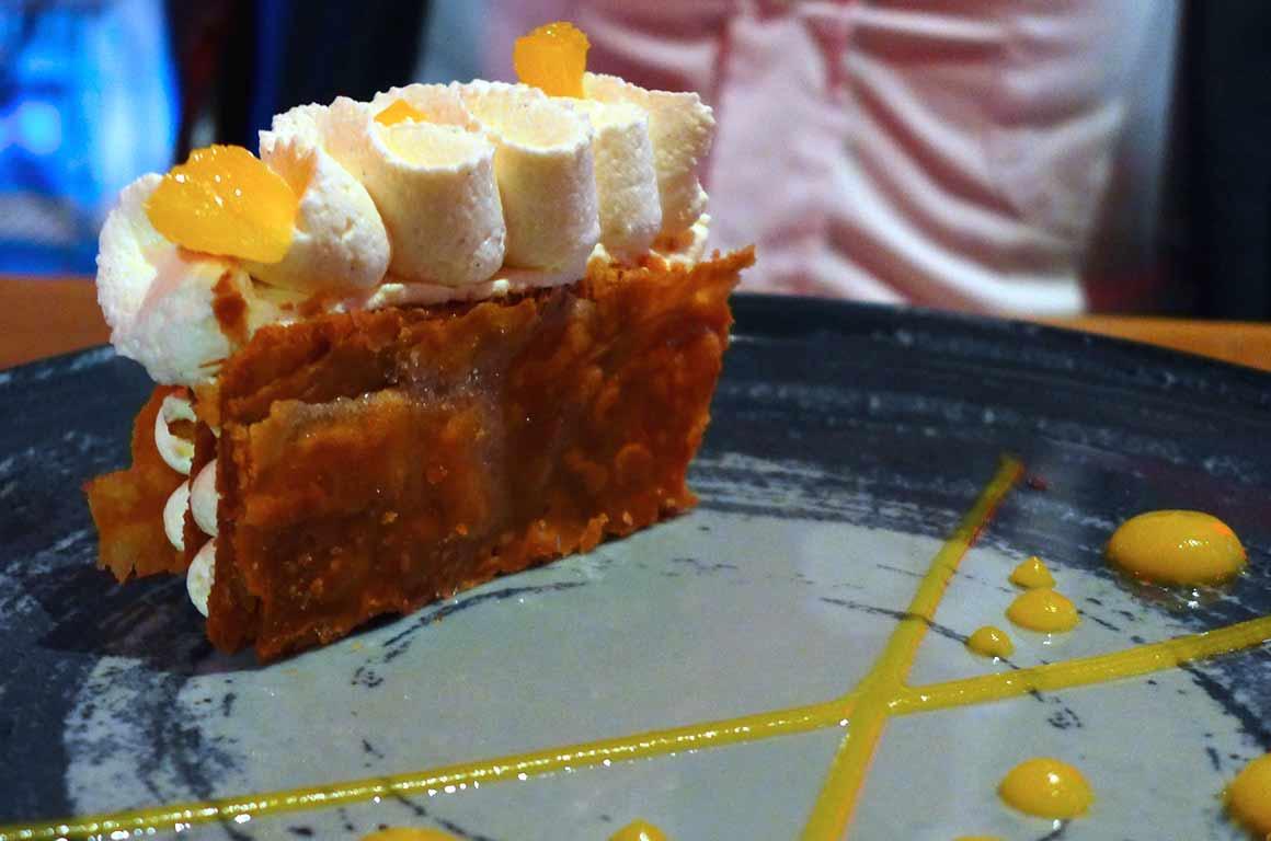 Restaurant FAUST, Millefeuilles orange et curcuma