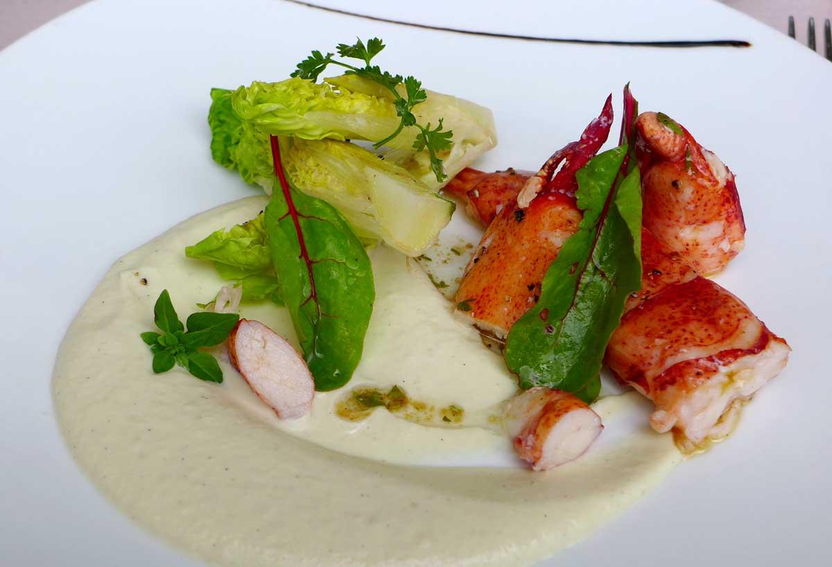 Restaurant Minipalais, Salade de homard avec une fine mousseline de fenouil