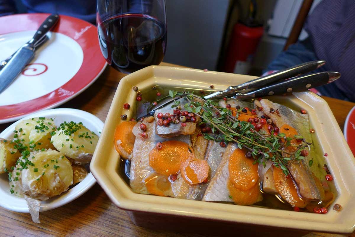 Restaurant Astier, la terrine de harengs