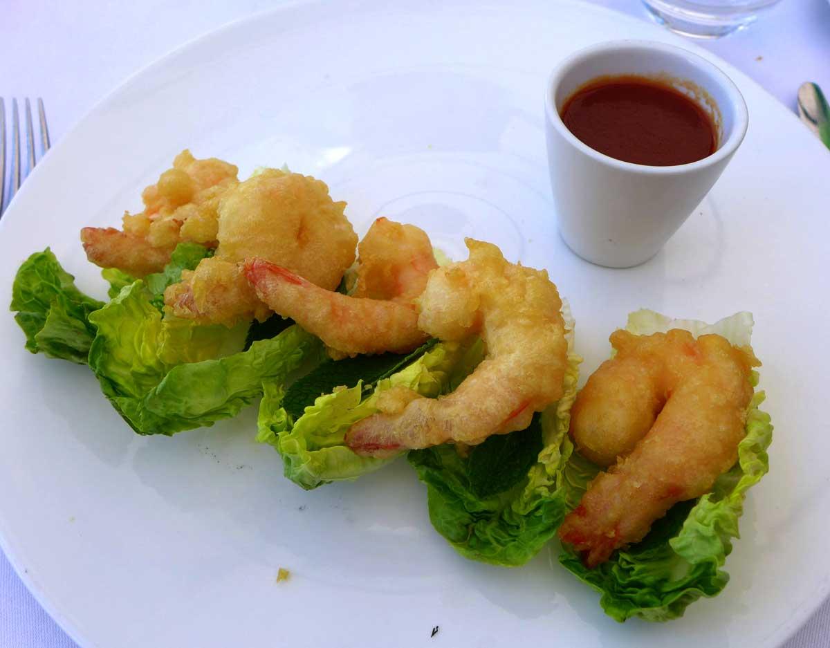 Ô Restaurant : Tempura de crevettes sauce taïwanaise