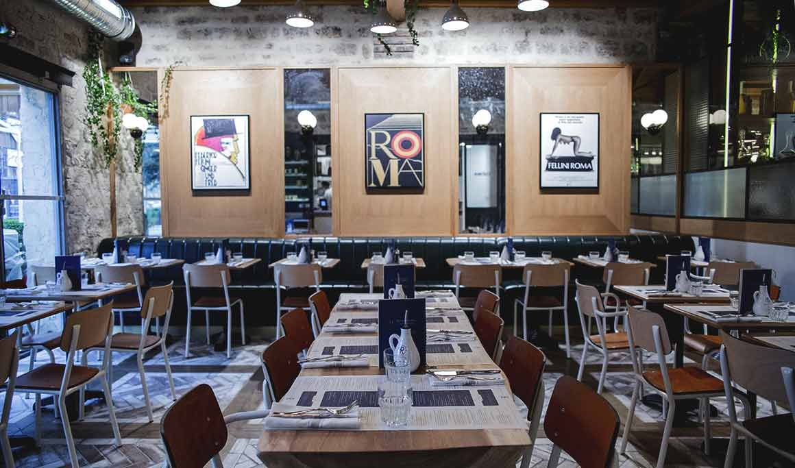 La salle du restaurant Roberta
