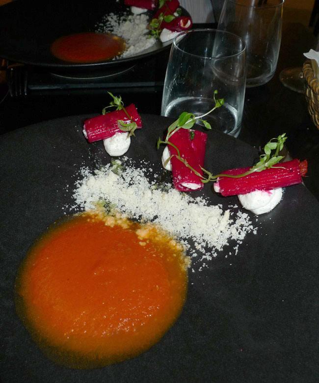 Restaurant Rossi & Co, condriglioni farcis de ricotta di bufala