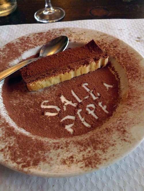 Restaurant Sale E Pepe, Le dessert au chocolat