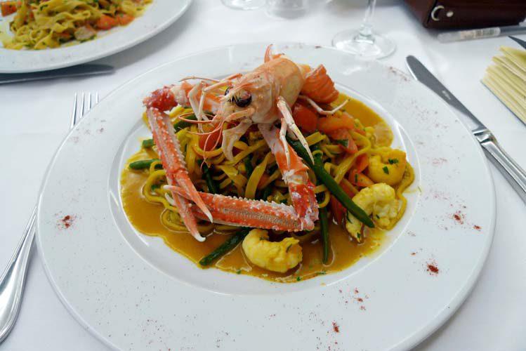 Restaurant Samesa, Les spaghetti guitare aux langoustines