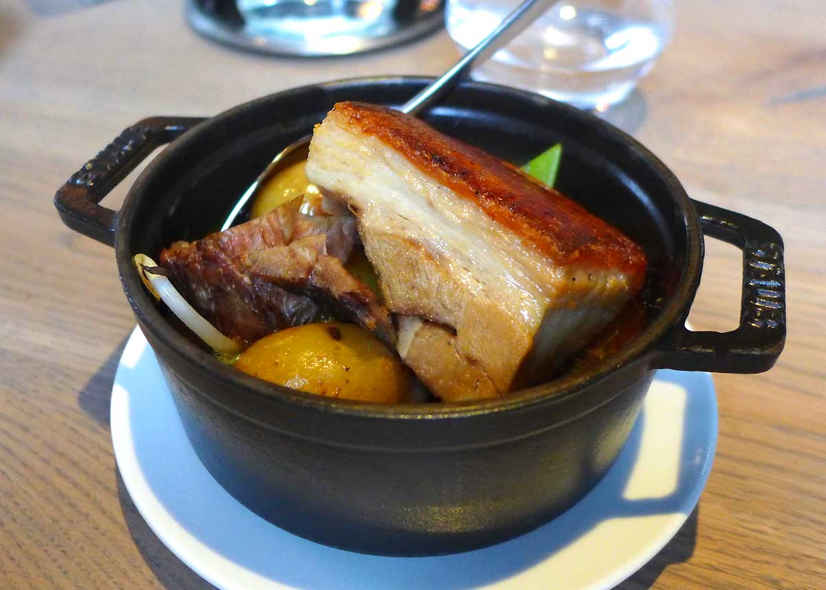 Restaurant Saperlipopette : Poitrine de porc braisée