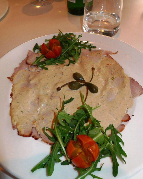 Restaurant Sassolini, vitello tonato