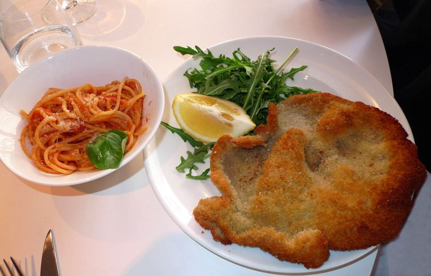 Restaurant Sassolini, escalope de veau
