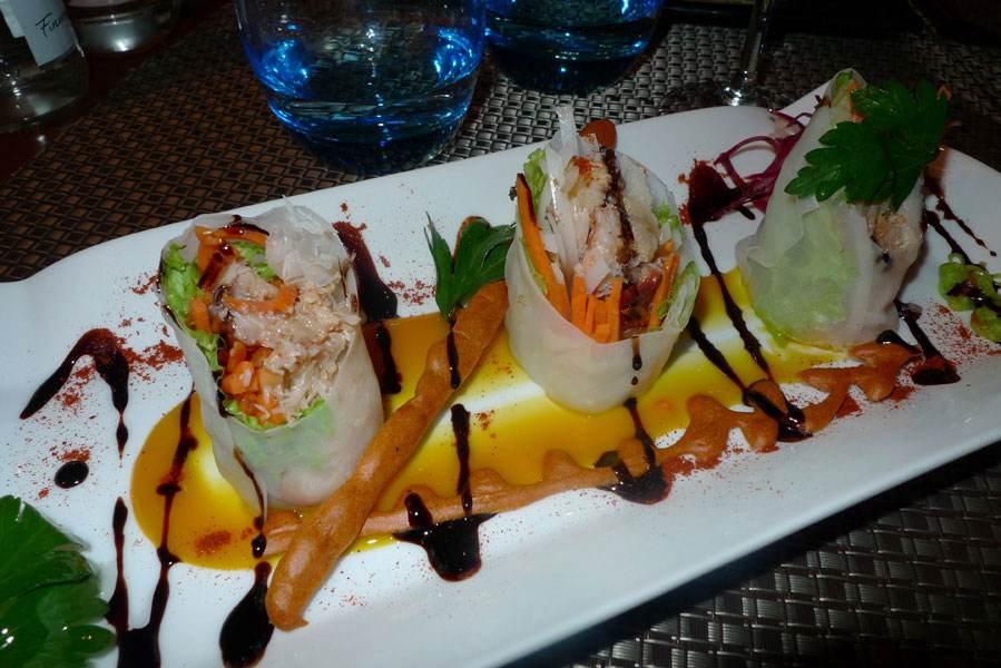 Saveurs et Coincidences, Le must de crabe et sa vinaigrette de mangue et wasabi