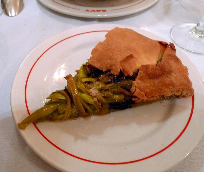 Bistrot Chez Savy, Tarte rhubarbe