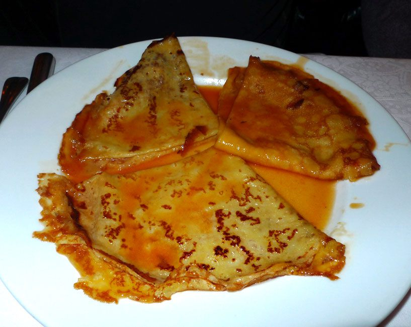 Restaurant Sebillon : Crêpes flambées