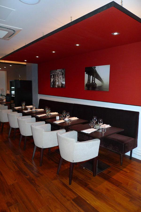 Restaurant Sens Uniques, La salle