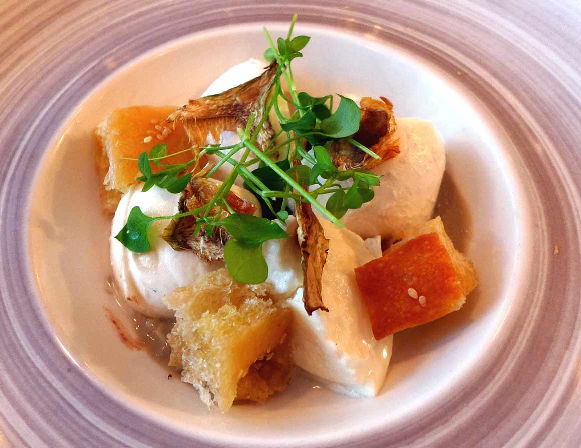 Restaurant Sense Eat, mozzarela di Bufala di napoli