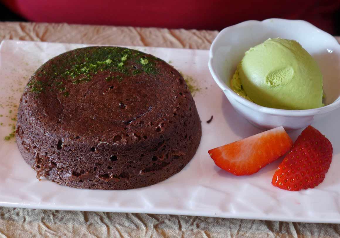 Restaurant Shiki : Fondant au chocolat