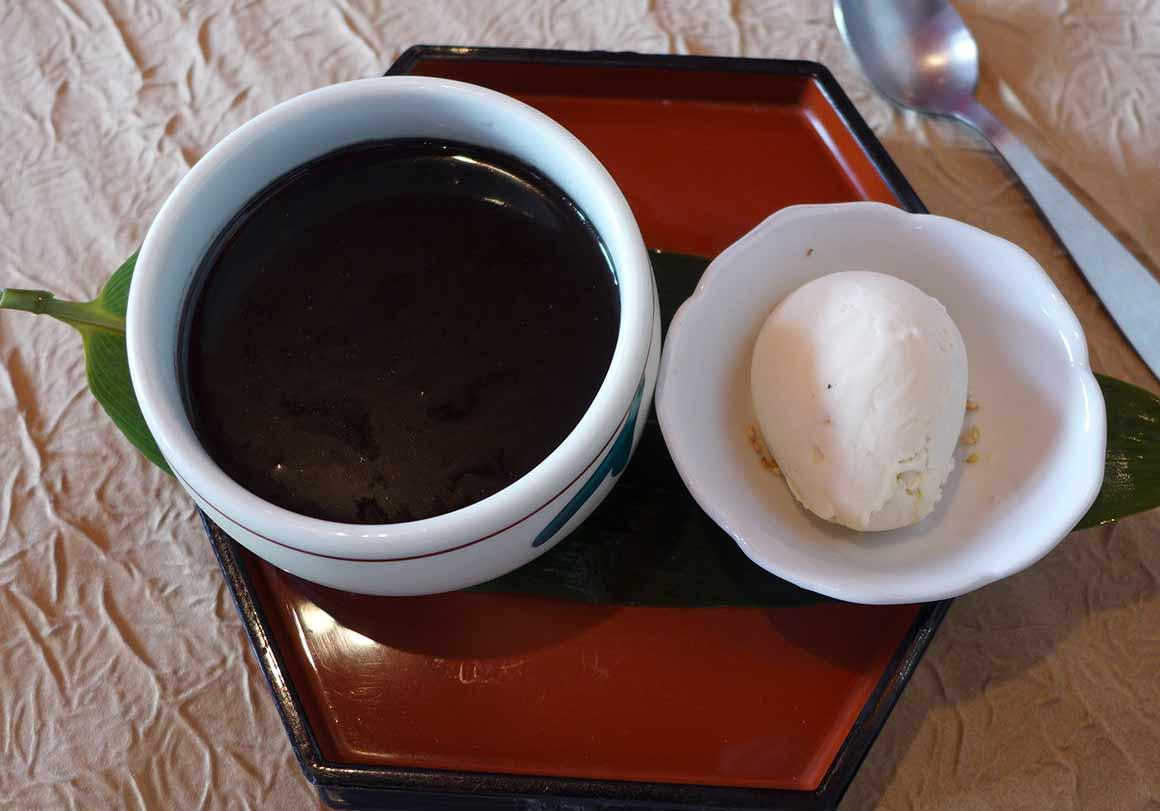 Restaurant Shiki : Crème caramel au sésame