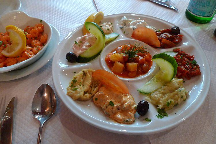 Restaurant Sizin, La variété des entrées