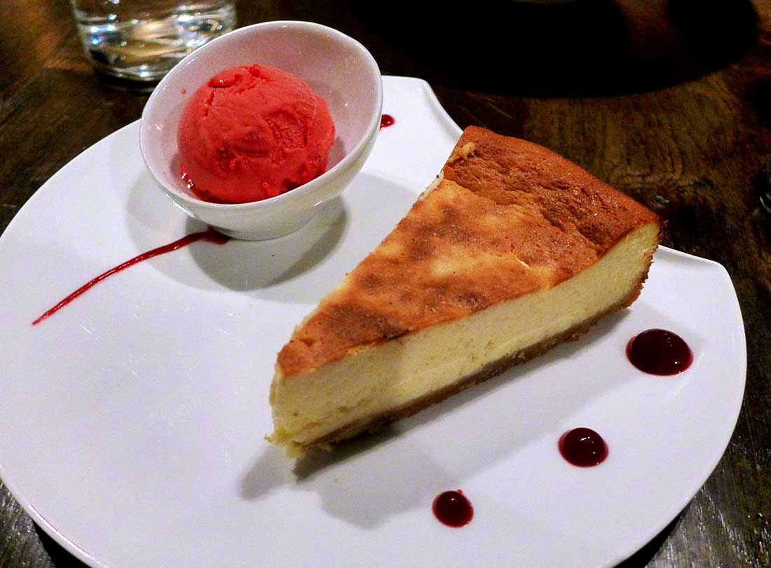 Restaurant Steaking : Arthur's cheesecake