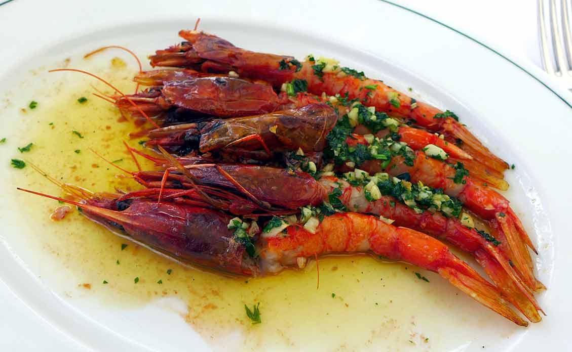 Restaurant Girafe, Gambero rosso à l'aïl