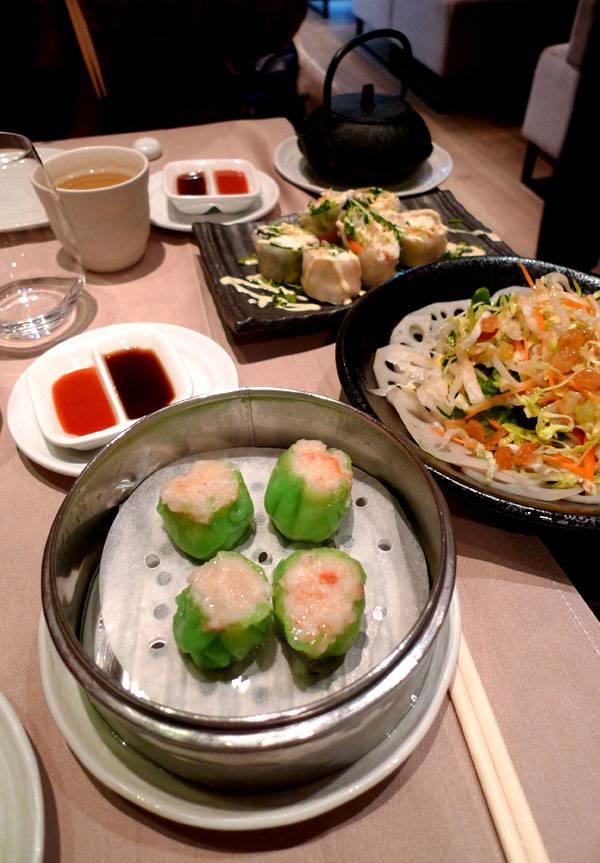 Restaurant TAOKAN, sélection de dim sum