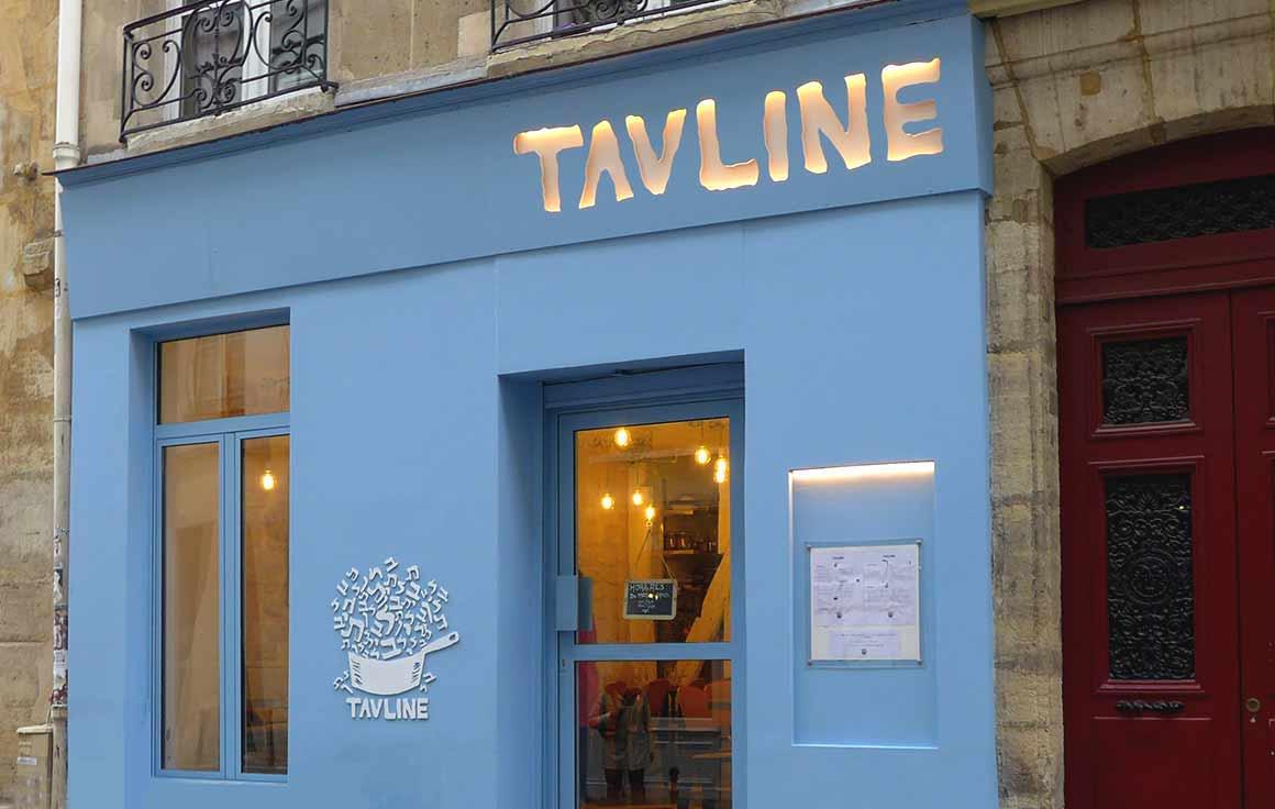 Le restaurant Tavline façade