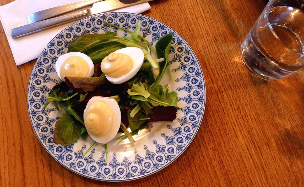 Restaurant Pouledeluxe : Oeufs mayonnaise