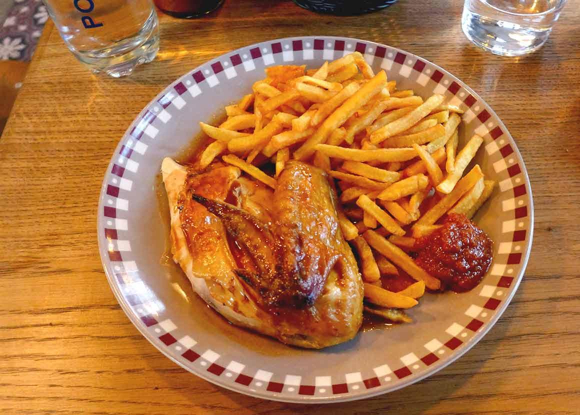 Restaurant Pouledeluxe : Poulet fermier avec frites