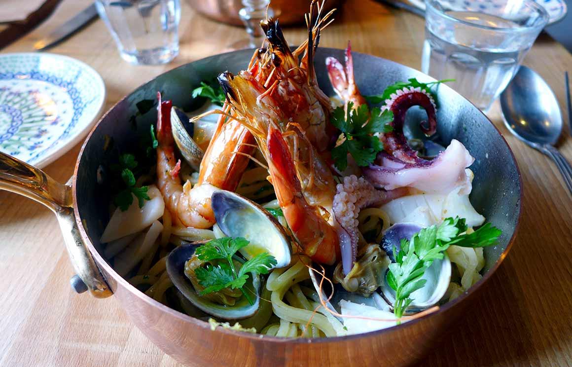 Restaurant The Little Italy, Spaghettis aux fruits de mer