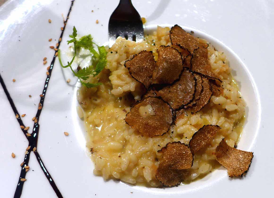 Restaurant Truffes Folies : Risotto canaroli à la truffe