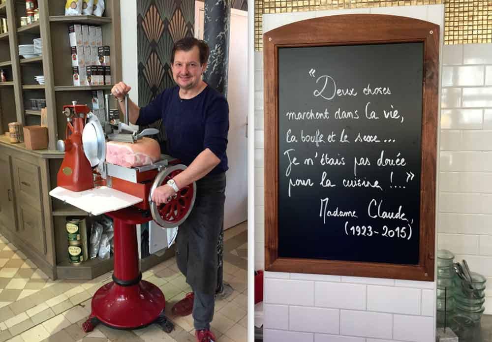 Bistrot Chez Mme Claude, Ludovic Perraudin - la profession de foi de Madame Claude