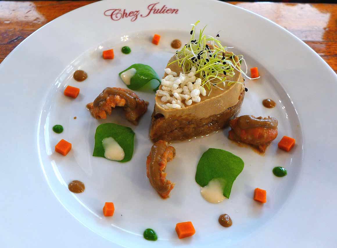Restaurant Chez Julien, caviar de cèpes et écrevisses